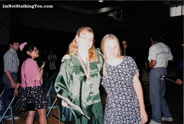 Alicia & I together on the occassion of my high school graduation.