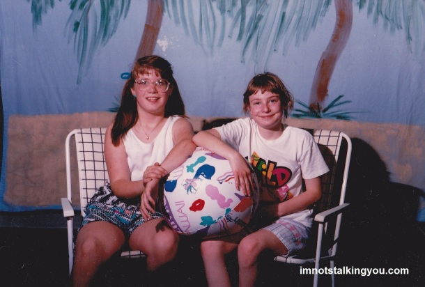 "I'm on the right, wearing a ""Wild Puffalumps"" shirt I obtained from The Wacky Warehouse."