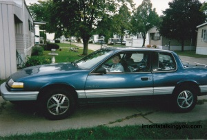 Me in my first car. 1989 Pontiac Grand Am