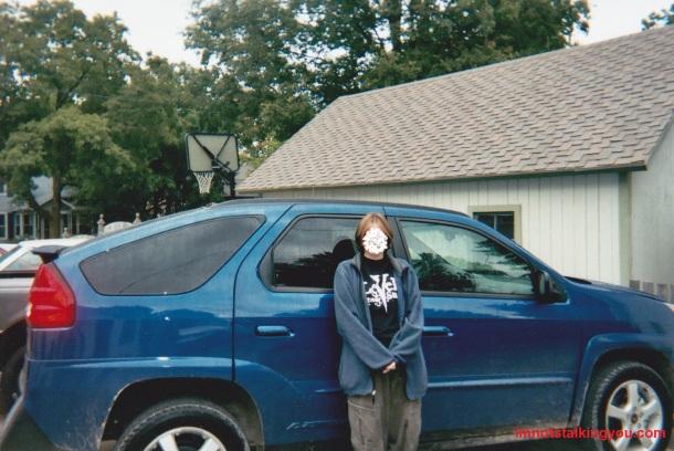 2004 Pontiac Aztek, before all the hail damage