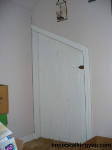 Hobbit Door to our Attic.  If only I had a Hobbit to put in front of it for perspective.