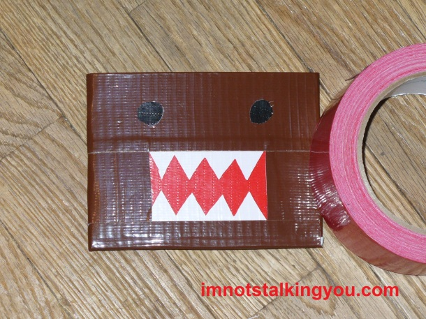 Domo Wallet, made from duct tape, outside