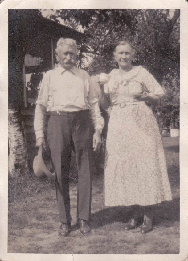 "This picture says ""Grandmother and Uncle Will"" on the back.   I do believe Martha had a brother William.  But does this guy look like the old guy in all the other pictures too?  Hard to say."