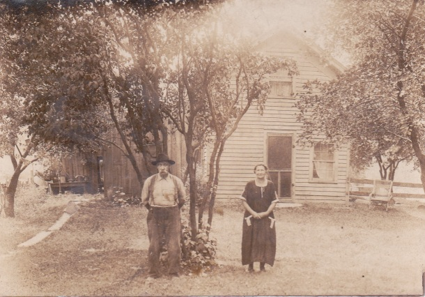 """Grandma"" is written on the back of this picture in pencil.  I believe this may have been Martha Elliot.  I am guessing the guy next to her is Phillip Bracey."