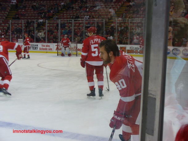 View from the penalty box: Henrik Zetterberg