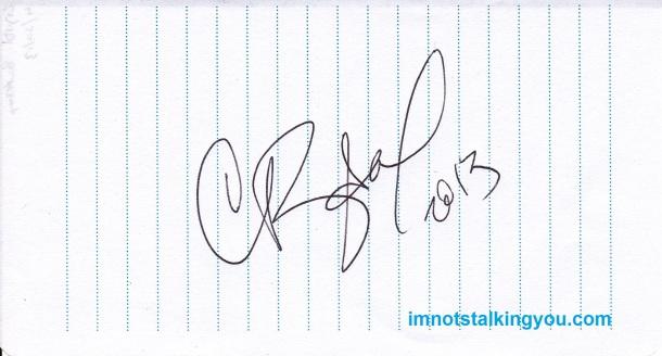 Crystal Bowersox Autograph, 4/20/13
