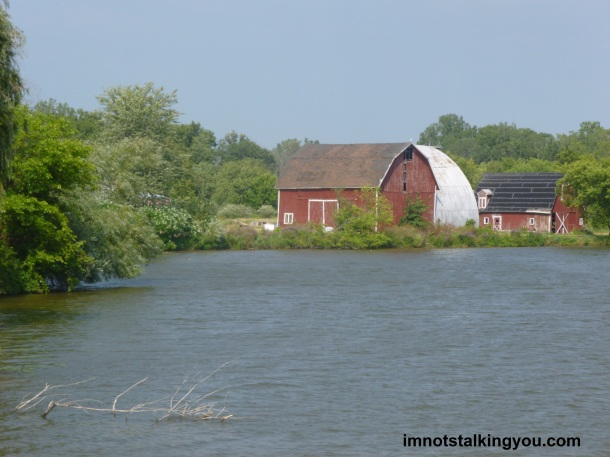 Barns from the boat