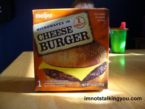 Meijer Frozen Microwavable Cheeseburger