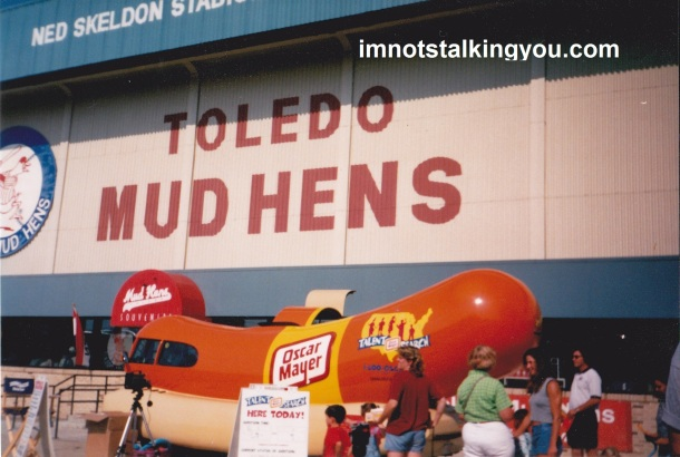 The Oscar Mayer Wienermobile at Ned Skeldon Stadium (now torn down)
