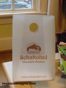 This is the empty bag from the chocolates that are long gone.  But it still smells chocolatey inside!