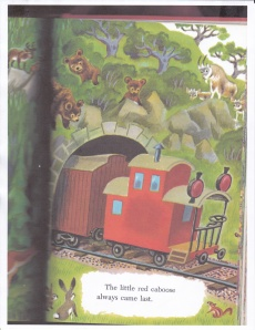 My inspiration: The Little Red Caboose by Marian Potter