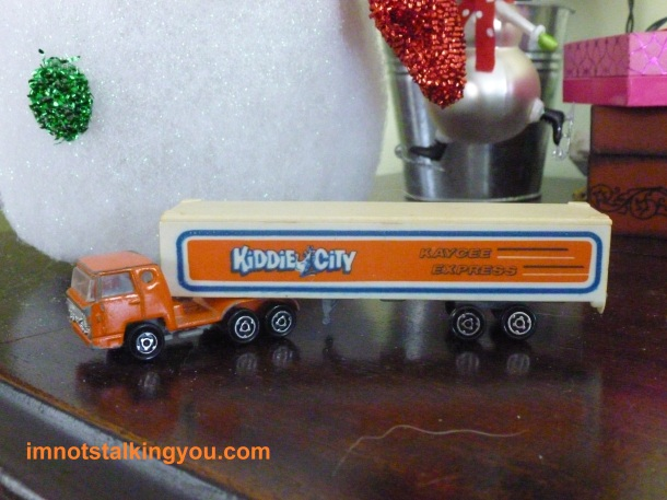 Official Kiddie City semi truck, from my personal collection, circa around 1980.