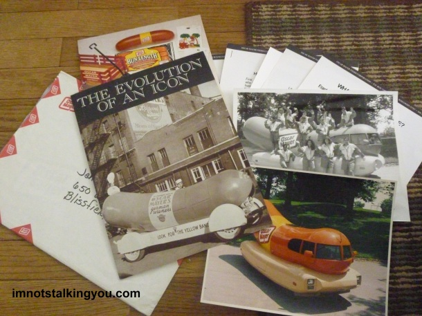 First Wienermobile info packet from Oscar Mayer