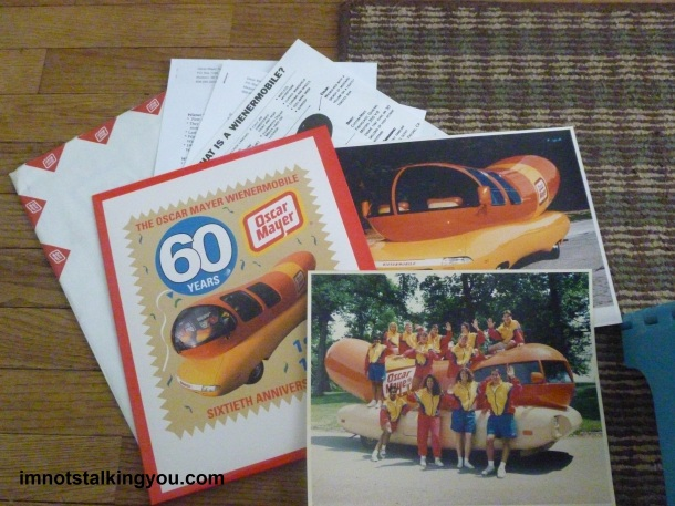 Second Wienermobile info packet from Oscar Mayer