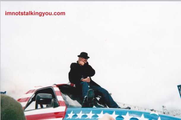 Kid Rock on a monster truck