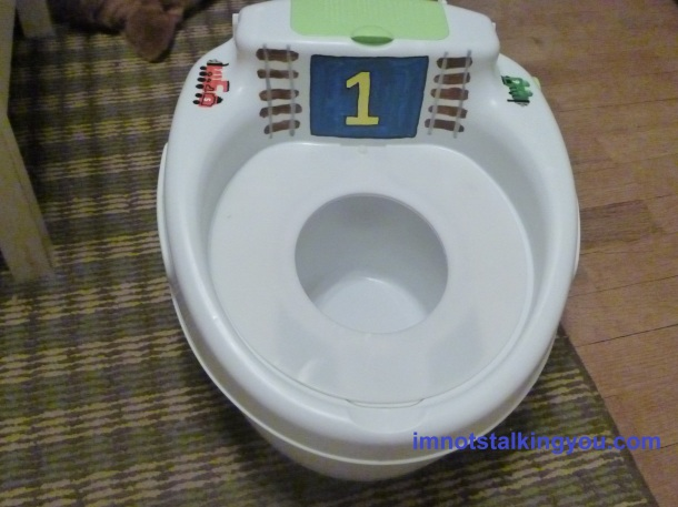 "The new & improved ""Thomas"" potty!"