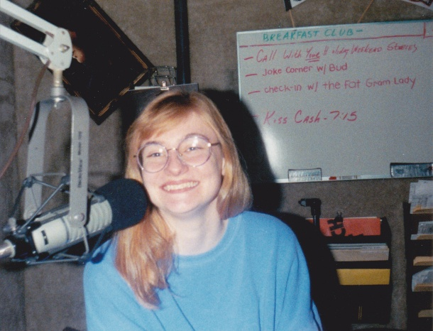 "Me on ""Look Ma, I'm on KISS-FM"", 92.5 WVKS Toledo, 1994"