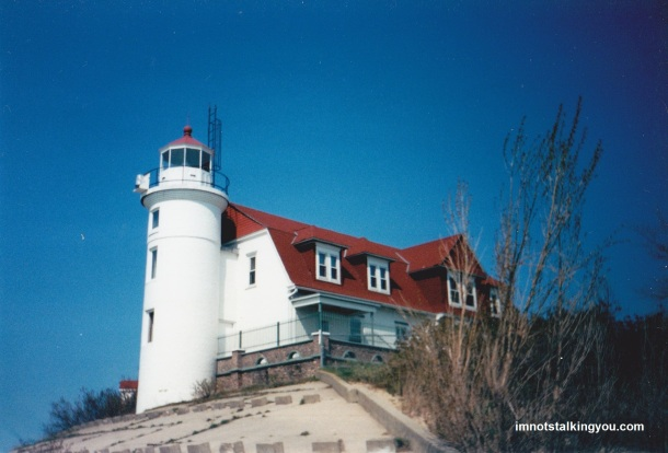 Pretty standard picture you will see on postcards and mugs of Point Betsie Lighthouse.