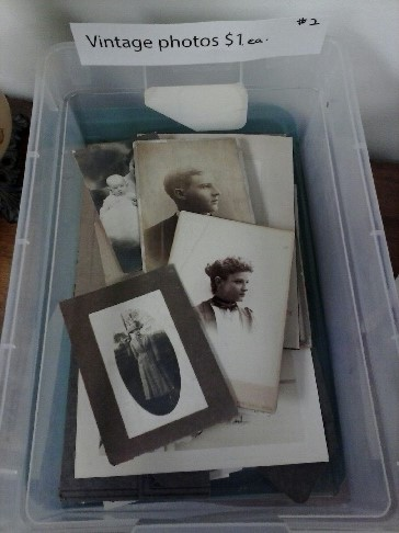 The box of vintage photos