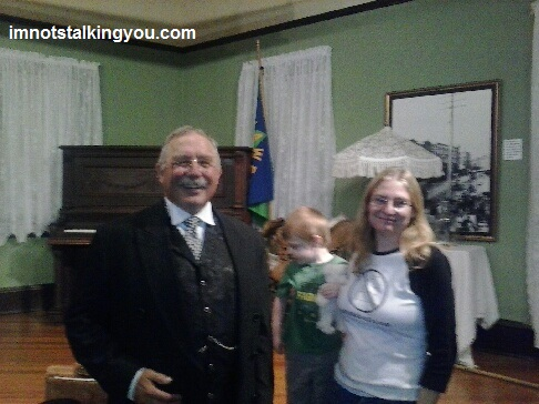 President Theodore Roosevelt, M, and me