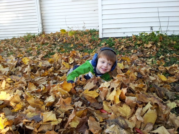 No more crying when Daddy starts the leaf blower.