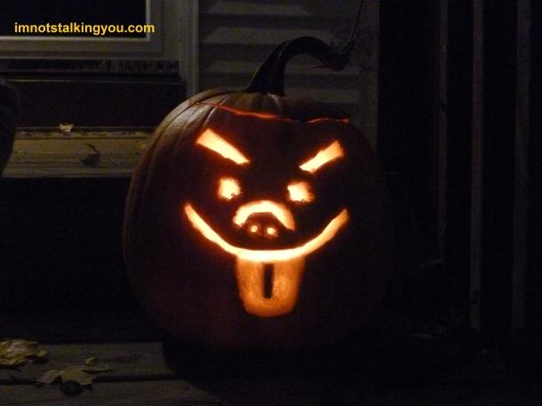 ...of my custom Mr. Ugly-Man pumpkin.