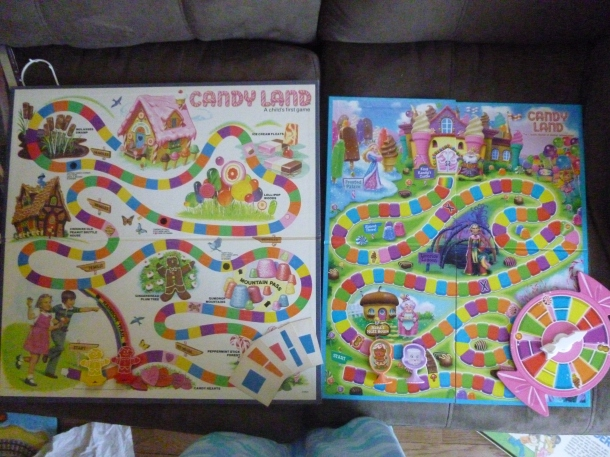 Candy Land: Early 1980's vs. 2014 boards