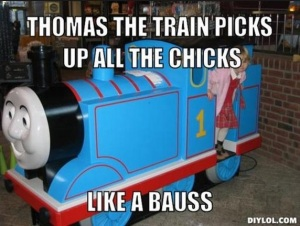 Thomas is a pimp (not really)