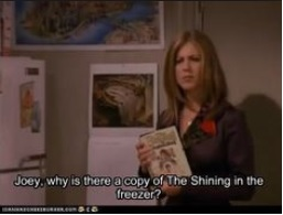 Friends Trivia: Joey puts scary books in the freezer.