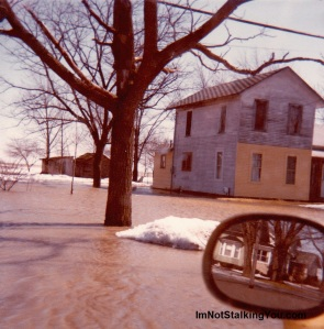 Our flooded house, Riga Hwy, Riga, MI, 1981