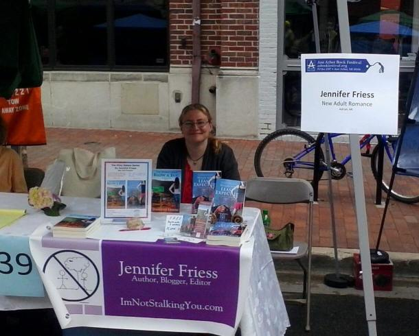 My booth at the Ann Arbor Book Festival