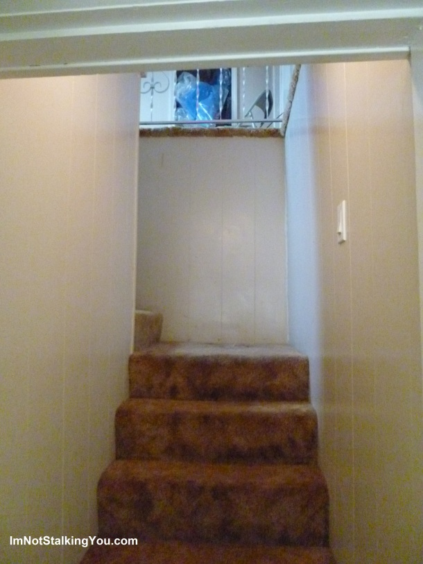 The stairway before.