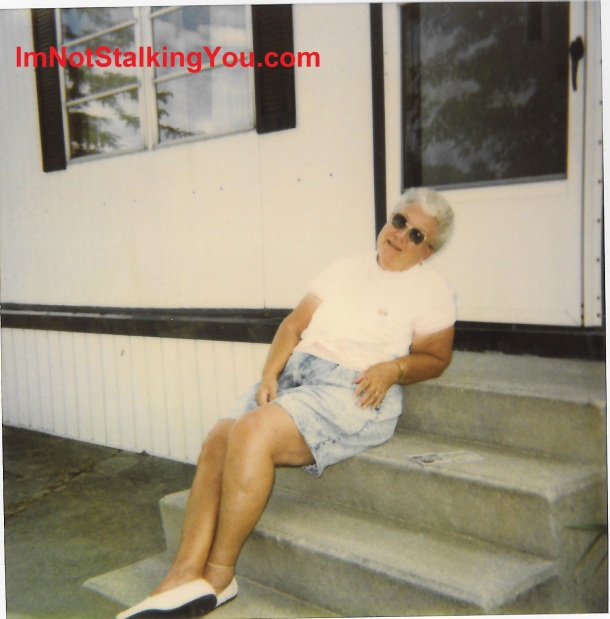 A picture of the steps. And my gramma. Because I miss her very much.