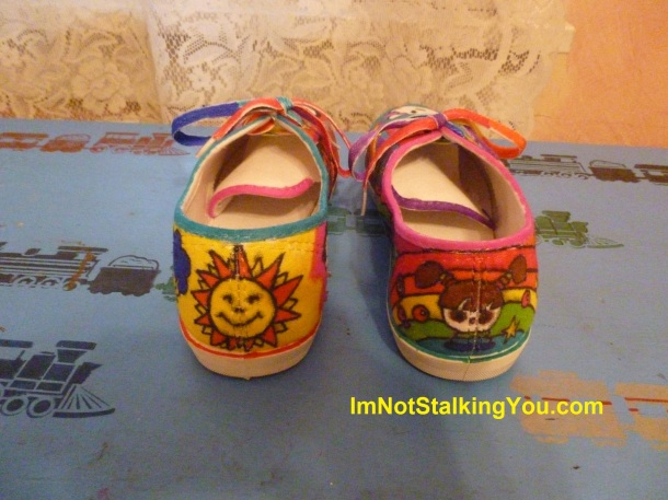 My decorated shoes-the back!