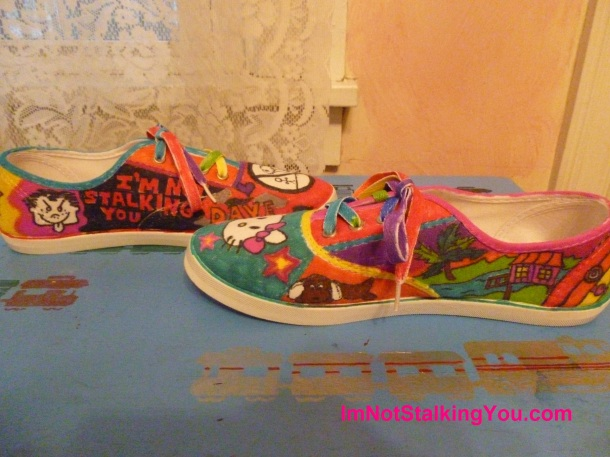 My decorated shoes-the insides