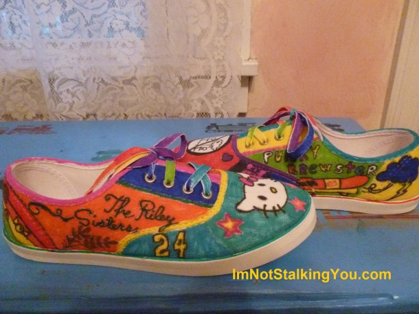 My decorated shoes-the outsides