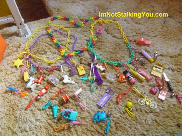 Vintage 1980s charm necklaces