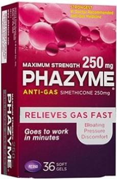Phazyme packaging