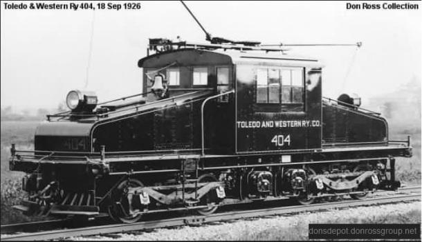 Toledo & Western engine