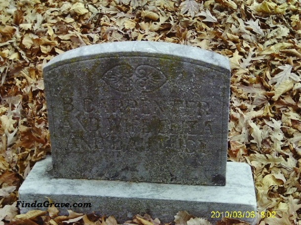 Tombstone from Madison Township Cemetery