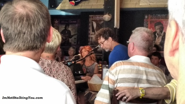 A performance at the Bluebird Cafe