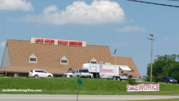 By coincidence, I stopped at the gas station across from this store coming and going. It amuses me.