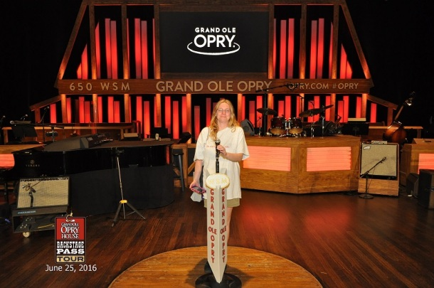 ME ON THE STAGE AT THE GRAND OLE OPRY!!!