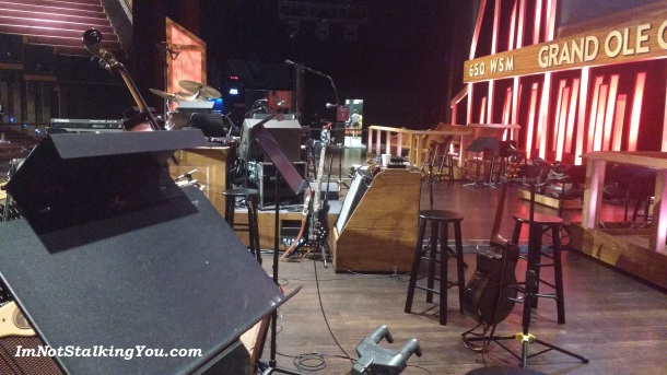 Side view of the Opry stage.