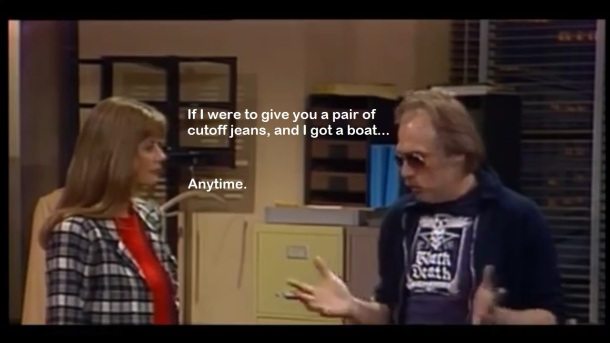 "PHOTO: MTM, Fox, Shout! Actual dialog between Bailey & Johnny during the episode ""I Am Woman"""